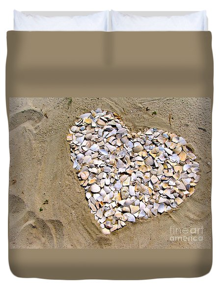 Love At The Jersey Shore Duvet Cover by Colleen Kammerer