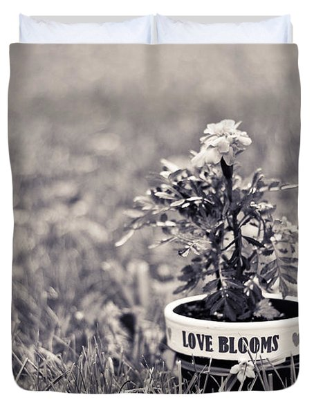 Love Blooms Duvet Cover by Sara Frank