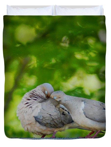 Love Doves  Duvet Cover