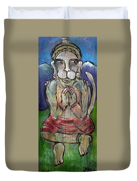 Love For Hanuman Duvet Cover