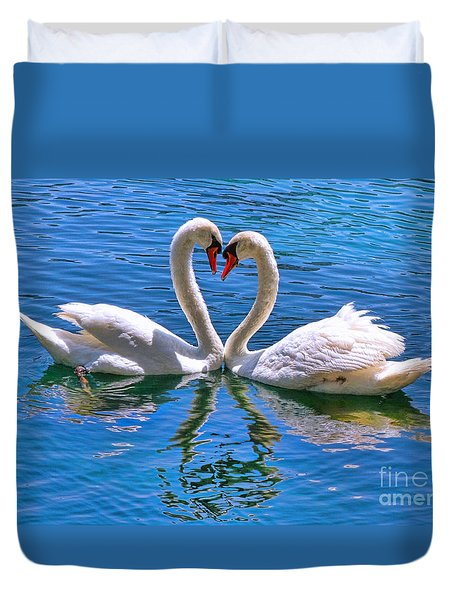 Love For Lauren On Lake Eola By Diana Sainz Duvet Cover by Diana Sainz