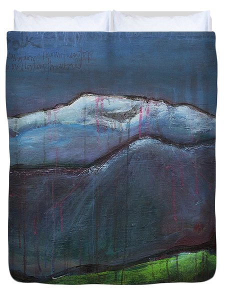 Love For Pikes Peak Duvet Cover