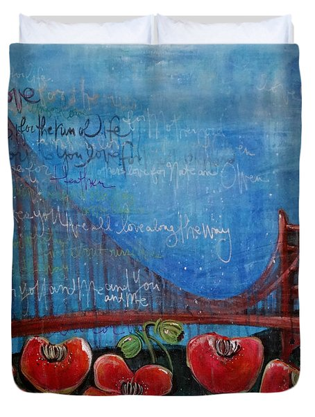Love For San Francisco Duvet Cover
