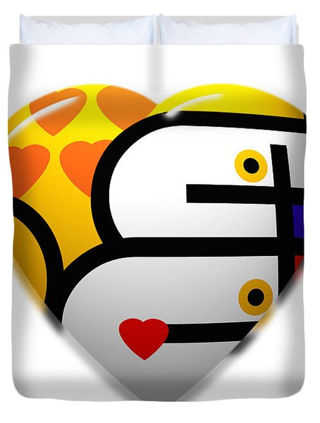 Love Heart Pop Duvet Cover