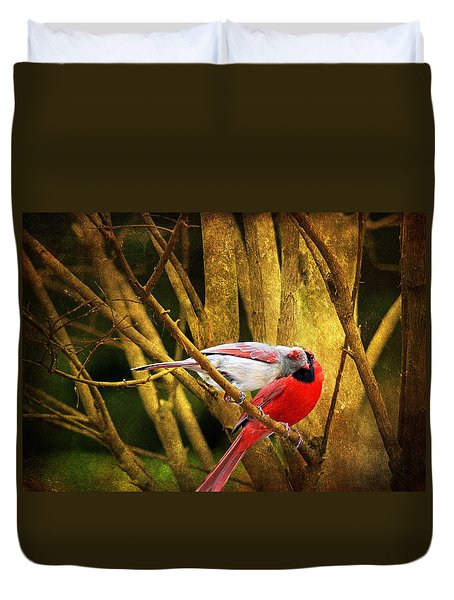 Duvet Cover featuring the photograph Love In A Dark World by Trina  Ansel