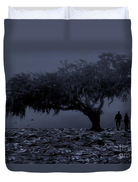 Love In Moon Light Duvet Cover