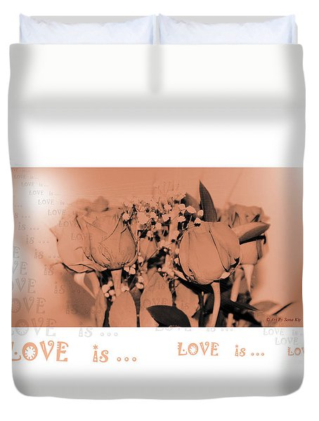 Endless Love. Love Is... Collection 13. Romantic Duvet Cover