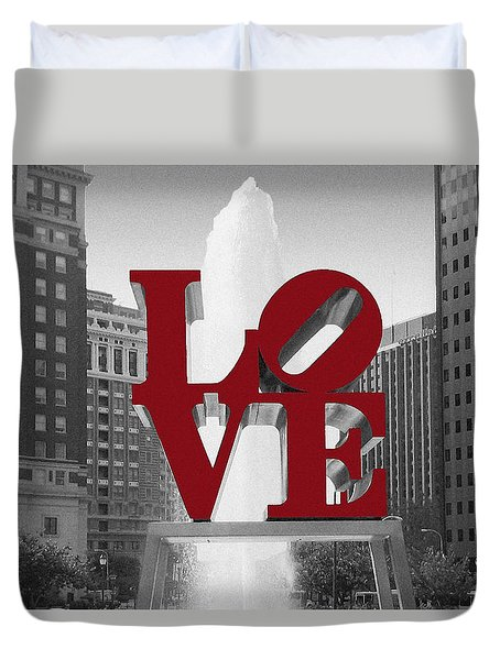 Love Is Red Duvet Cover