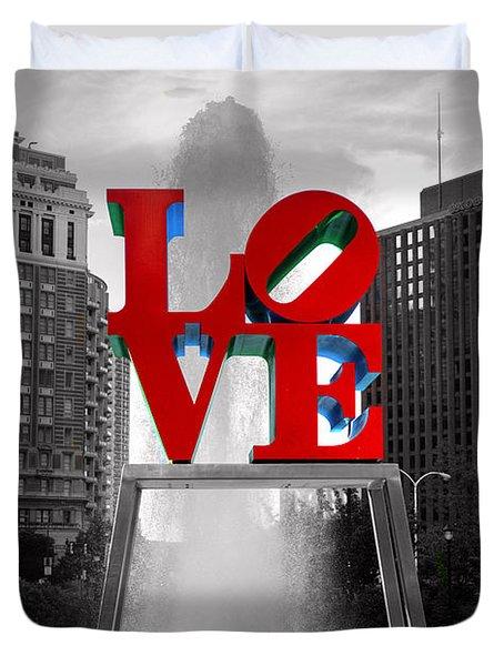 Love Isn't Always Black And White Duvet Cover