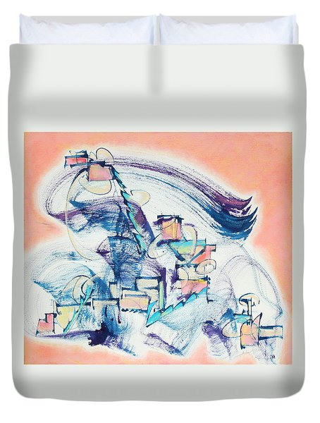 Love Leading The Way Duvet Cover by Asha Carolyn Young