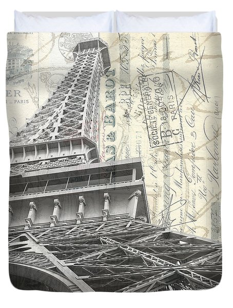 Love Letter From Paris Square Duvet Cover by Edward Fielding