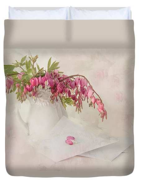 Love Letters Duvet Cover