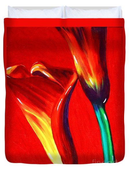 Love Lilies Duvet Cover by Jackie Carpenter