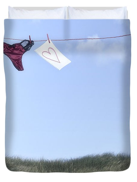 Love Message From Cloud 9 Duvet Cover by Joana Kruse