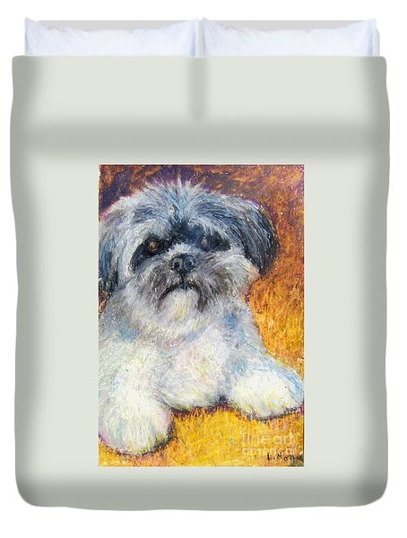 Love My Lhasa Duvet Cover