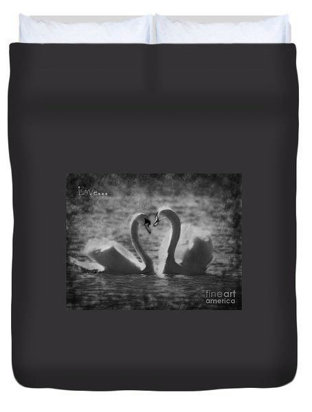 Love... Duvet Cover by Nina Stavlund