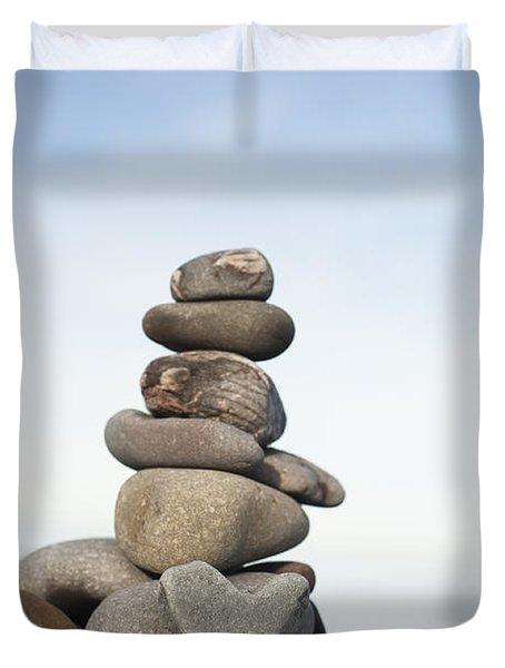 Love On The Rocks Duvet Cover by Anne Gilbert