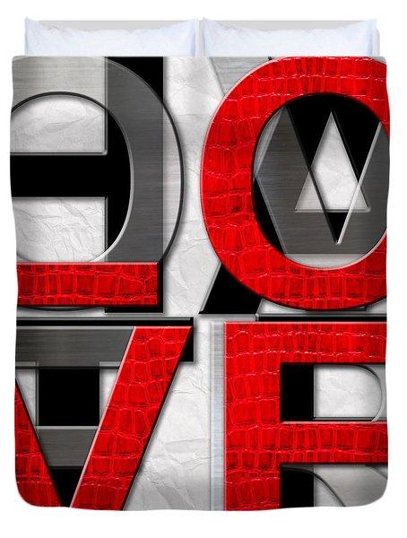 Love Over Hate Duvet Cover