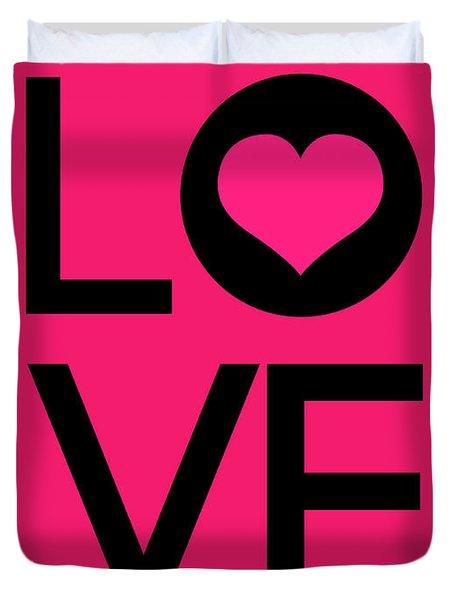 Love Poster 5 Duvet Cover