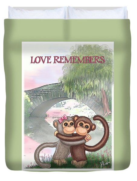 Love Remembers Duvet Cover by Jerry Ruffin