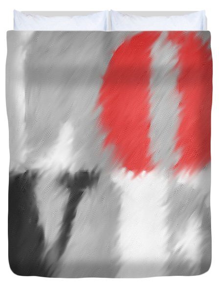 Duvet Cover featuring the photograph Love Softened by Suzanne Powers