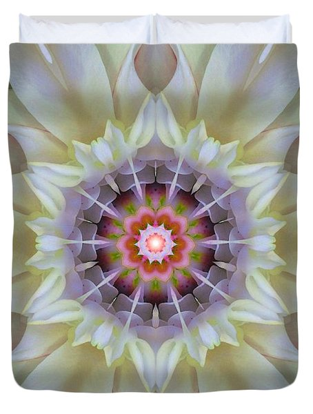Love Star Flower Mandala Duvet Cover