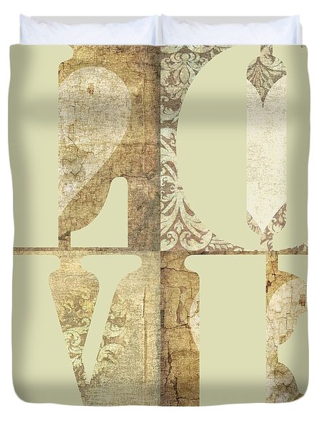 Duvet Cover featuring the photograph Love Tapestry by Suzanne Powers