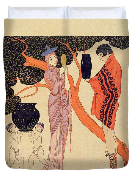 Love Token Duvet Cover by Georges Barbier