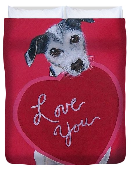 Love You Duvet Cover