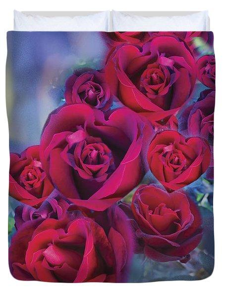 Loveflower Roses Duvet Cover by Alixandra Mullins