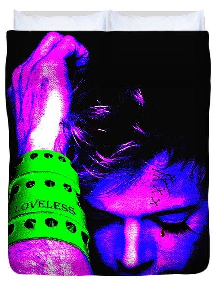 Loveless Soft Blue Duvet Cover