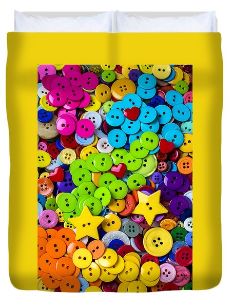 Lovely Buttons Duvet Cover by Garry Gay