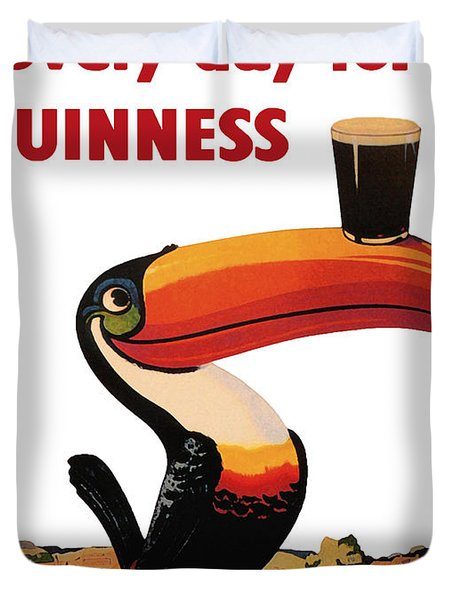 Lovely Day For A Guinness Duvet Cover