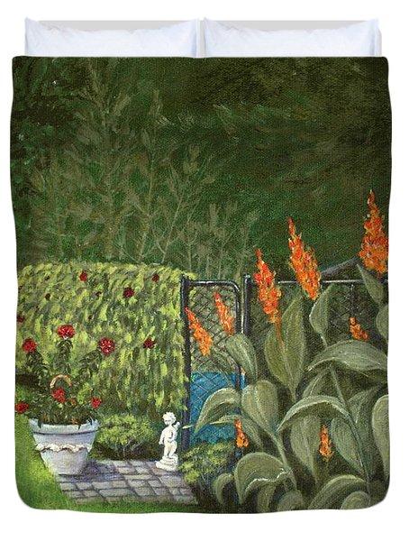 Lovely Green Duvet Cover by Anastasiya Malakhova