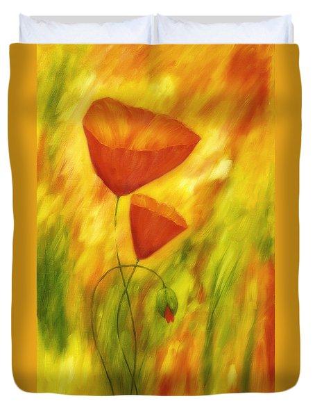Lovely Poppies Duvet Cover by Veikko Suikkanen