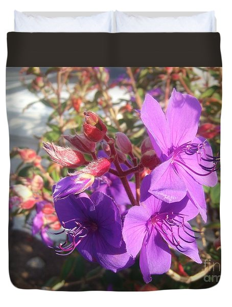 Duvet Cover featuring the photograph Lovely Purple Flower by Jasna Gopic