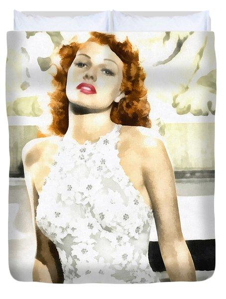 Lovely Rita Duvet Cover by Mo T