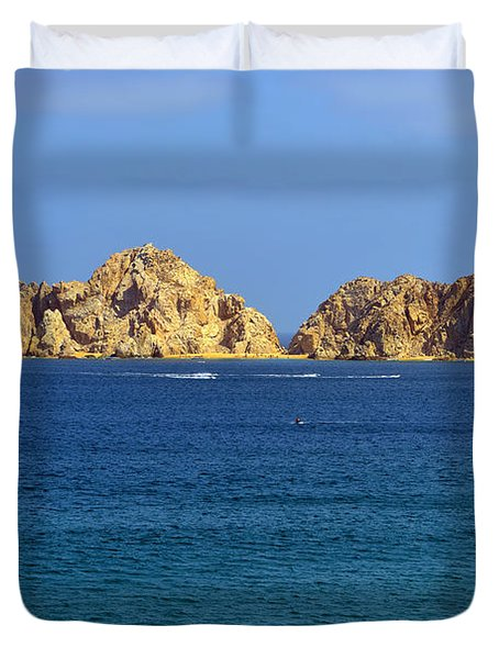 Duvet Cover featuring the photograph Lovers Beach Cabo by Christine Till