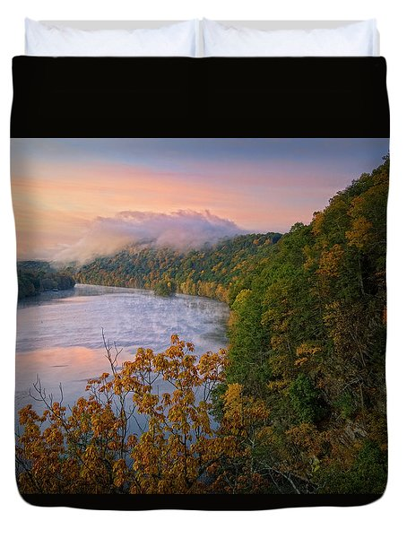 Lovers Leap Sunrise Duvet Cover