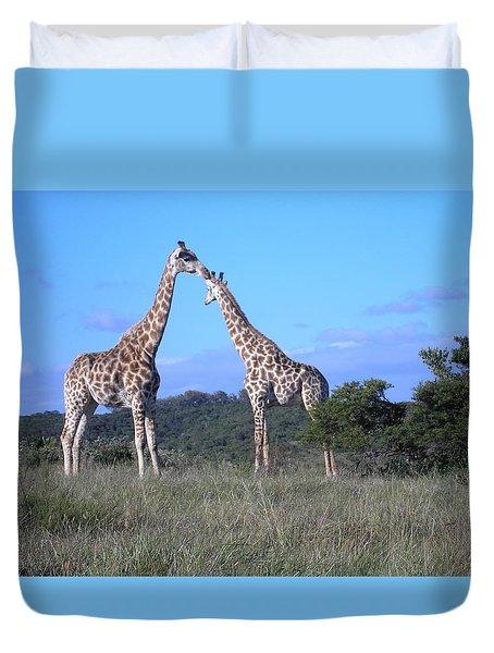 Lovers On Safari Duvet Cover