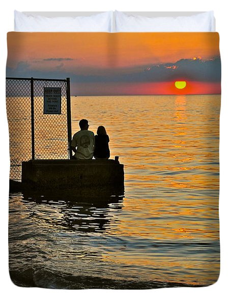 Lovers Overlook Duvet Cover by Frozen in Time Fine Art Photography