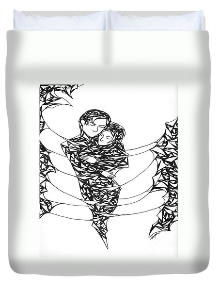 Love's Embrace Duvet Cover