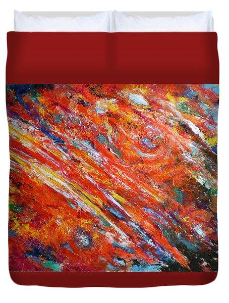 Loves Fire Duvet Cover by Michael Durst