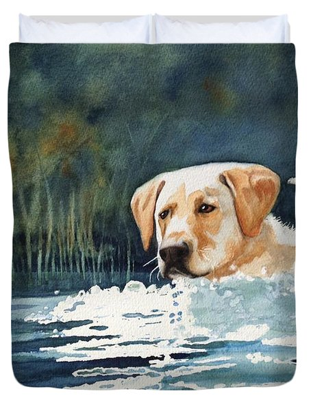 Loves The Water Duvet Cover by Marilyn Jacobson