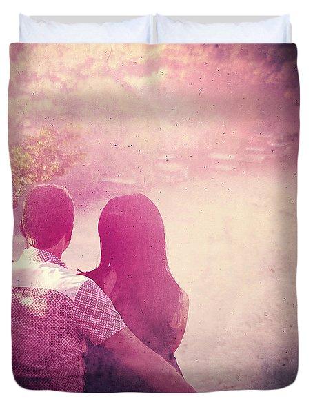 Lovestrong Duvet Cover by Trish Mistric