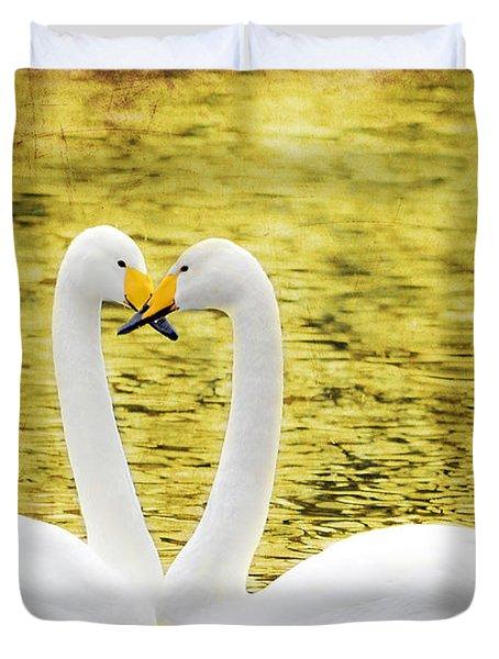 Loving Swans Duvet Cover by Tommytechno Sweden