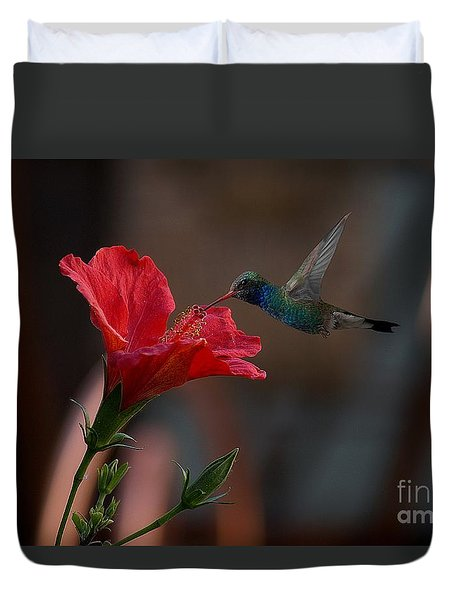 Duvet Cover featuring the photograph Loving The Hibiscus by John  Kolenberg
