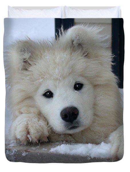 Loving The Snow Duvet Cover