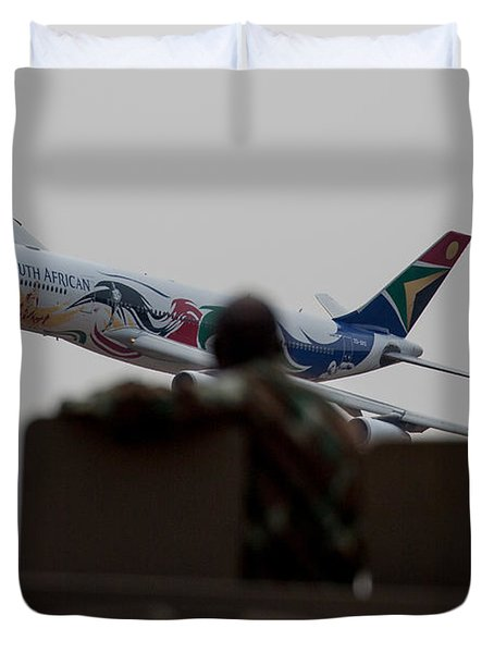 Low Airbus Duvet Cover by Paul Job