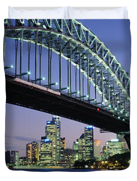 Low Angle View Of A Bridge, Sydney Duvet Cover